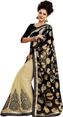 Hitansh Fashion Embriodered Fashion Chiffon Sari