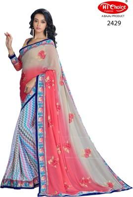 Hi-Choice Floral Print Fashion Georgette Sari
