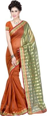 Sanju Sarees Plain Fashion Art Silk Sari