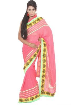 Vibhuti Sarees Self Design Fashion Synthetic Georgette Sari