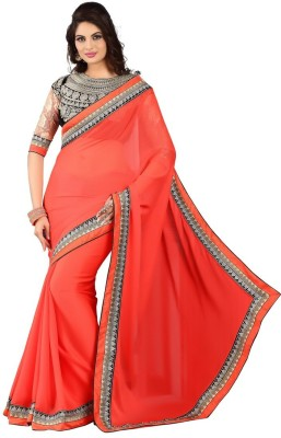RG DESIGNERS Embriodered Fashion Chiffon Sari