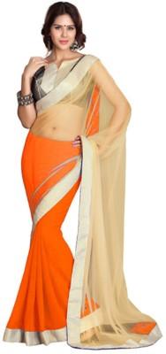 Indian E Fashion Plain Bollywood Net, Georgette Sari