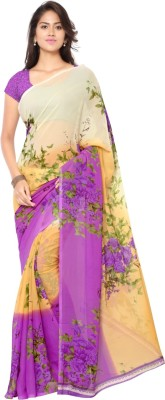 Aagaman Fashion Printed Fashion Georgette Sari