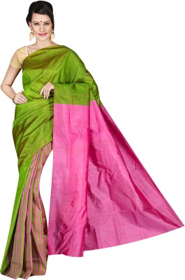 Shree Store Striped Daily Wear Handloom Silk Sari
