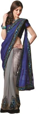Fashion Forever Embellished Fashion Chiffon, Net Sari