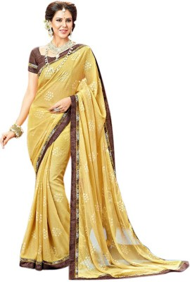 Brijraj Embellished Fashion Brasso Fabric Sari