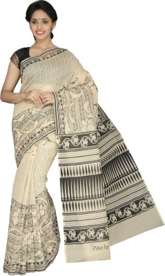 Pavechas Printed Mangalagiri Cotton Sari