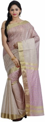 Fashion On Sky Self Design Bollywood Silk Cotton Blend Sari