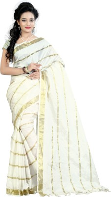 Lavniya Self Design Assam Silk Brasso Fabric Sari