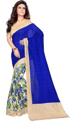 Sourbh Sarees Plain Fashion Art Silk Sari