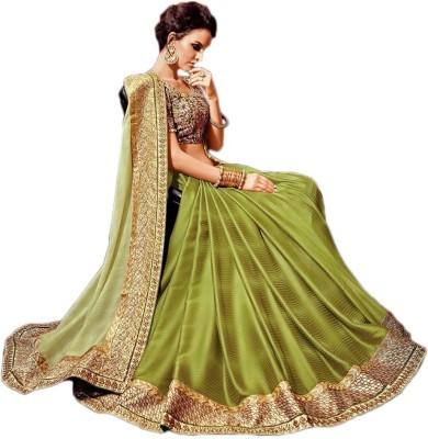 Manish Creation Embellished, Embriodered Bollywood Silk, Georgette Sari