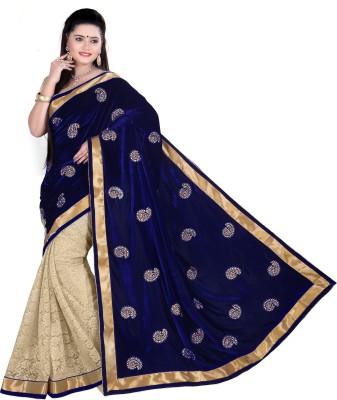 Fabviva Embriodered Bollywood Velvet Sari