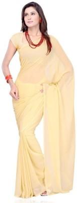 Shukan Saree Solid Daily Wear Chiffon Sari