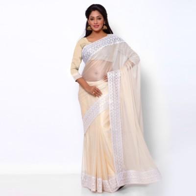 Ziyaa Striped Daily Wear Lycra Sari