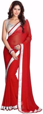 Fidubi Plain Fashion Georgette Sari