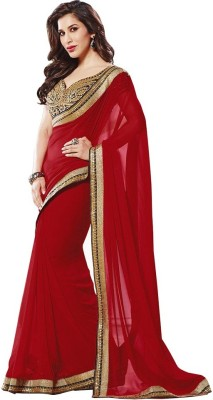 KHUSHALI COLLECTION Embriodered Bollywood Georgette Sari
