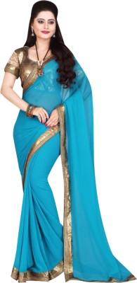Namohouse Solid Fashion Georgette Sari