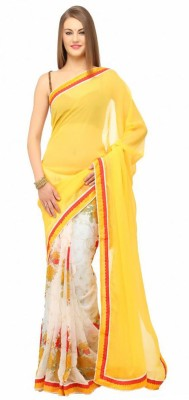 Krishna Embriodered Bollywood Georgette Sari