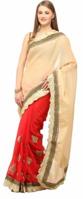 Lime Fashion Self Design Fashion Chiffon Sari