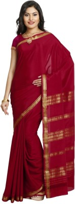 HASTHAKALA Self Design Mysore Pure Crepe Sari
