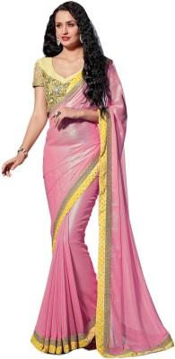Brijraj Solid Fashion Georgette Sari