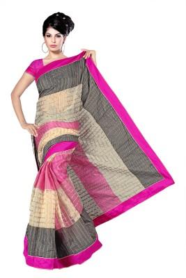 Simran Fashion Embellished Fashion Handloom Cotton Sari