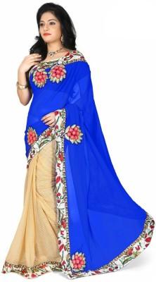 Nayra Fashion Solid, Embellished, Self Design Fashion Chiffon Sari