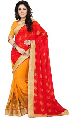 Saree Swarg Embellished Bollywood Chiffon Sari