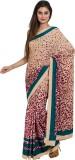 Satrang Printed Fashion Crepe Saree (Bei...