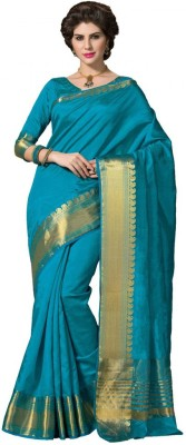 Radhika Creation Plain Fashion Tussar Silk Sari