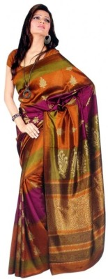 Sunaina Embellished Silk, Synthetic Saree(Multicolor) at flipkart