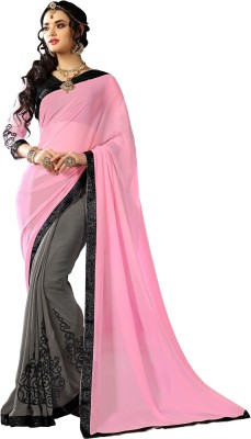 Suitevilla Printed Fashion Georgette Sari