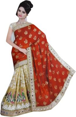 Jay Bhairav Embriodered Hand Batik Viscose Sari