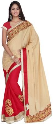 MANJULA FEB Embriodered Fashion Nylon, Chiffon Sari