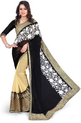 Lucky Fashion Self Design Fashion Handloom Net Sari