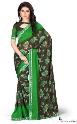 Snreks Collection Printed Fashion Georgette Sari