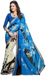 PSHOPEE Printed Fashion Chiffon Saree (B...