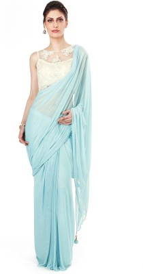 Kalki Plain Fashion Handloom Lycra Sari
