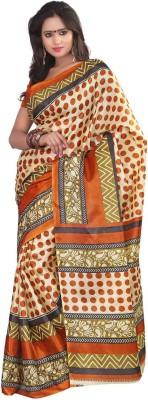 Keya Sarees Polka Print Ikkat Art Silk Sari