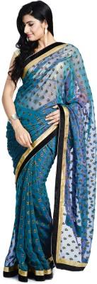 Divas Designerz Self Design Fashion Organza Sari