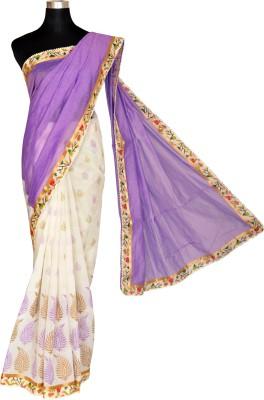 AtiGrens Printed Chanderi Cotton Sari