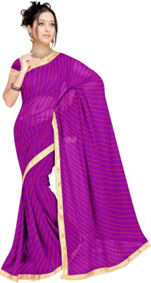 Shree Parmeshwari Printed Leheria Georgette Sari