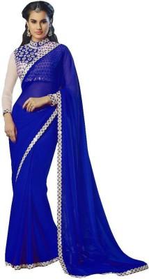 manjula feb Plain Daily Wear Georgette Sari