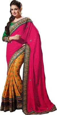 Snehaa Fashion World Self Design Fashion Georgette Sari