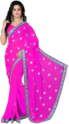 RajLaxmi Self Design, Embriodered Fashion Georgette Sari
