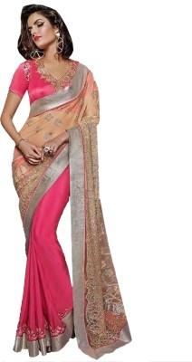 Greenvilla Designs Plain Fashion Net Sari