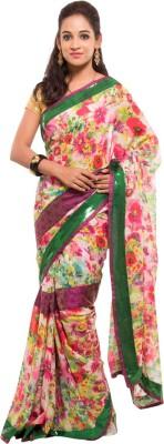 Geisha Floral Print Fashion Georgette Sari