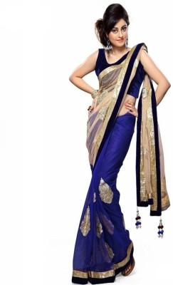 Texclusive Self Design Fashion Net Sari