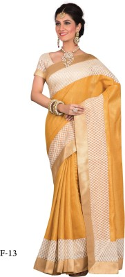 La,ethnic Self Design Fashion Handloom Art Silk Sari