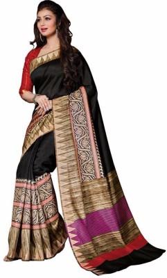 Sarovar Sarees Printed Bhagalpuri Printed Silk Sari